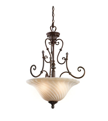 Kichler 42513LZ Sarabella 3 Light 23 inch Legacy Bronze Inverted Pendant Ceiling Light photo