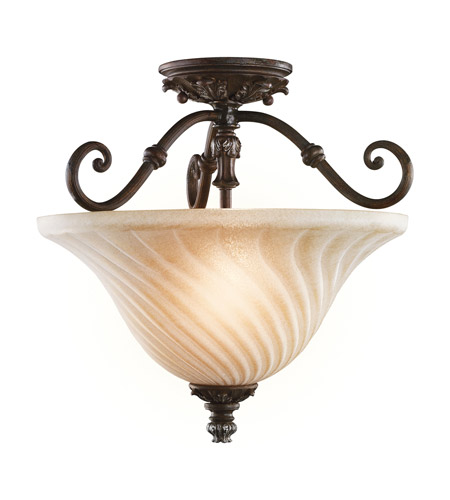 Kichler Lighting Sarabella 2 Light Semi-Flush in Legacy Bronze 42514LZ