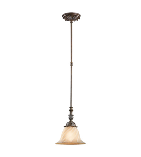Kichler Lighting Sarabella 1 Light Mini Pendant in Legacy Bronze 42515LZ