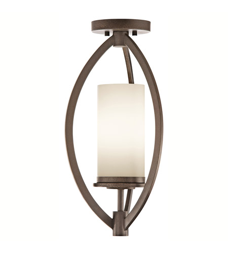 Kichler Lighting Neptune Place 1 Light Semi-Flush in Colton Bronze 42535CTZ photo