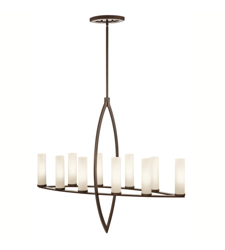 Kichler Lighting Neptune Place 10 Light Chandelier in Colton Bronze 42539CTZ photo