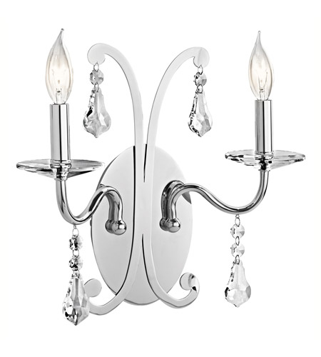 Kichler Lighting Leanora 2 Light Wall Sconce in Chrome 42543CH