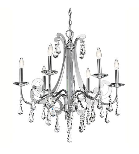 Kichler 42545CH Leanora 6 Light 28 inch Chrome Chandelier Ceiling Light photo