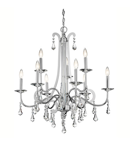Kichler 42546CH Leanora 9 Light 34 inch Chrome Chandelier Ceiling Light photo