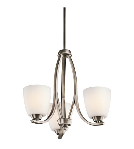 Kichler 42556BPT Granby 3 Light 19 inch Brushed Pewter Chandelier Ceiling Light in Standard photo