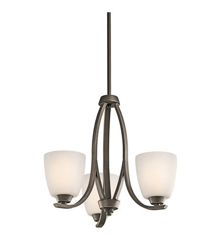 Kichler 42556OZ Granby 3 Light 19 inch Olde Bronze Chandelier Ceiling Light in Standard photo