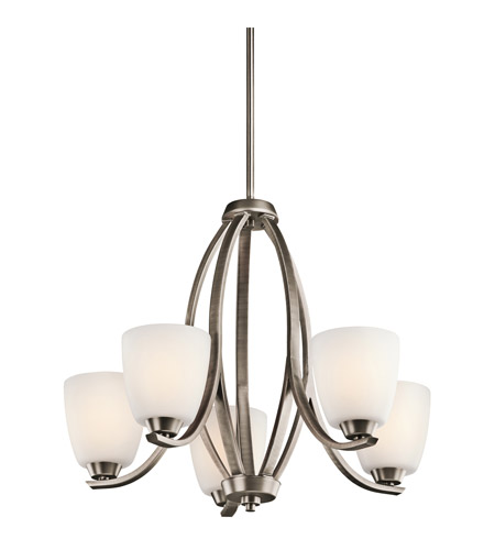 Kichler Lighting Granby 5 Light Chandelier in Brushed Pewter 42557BPT