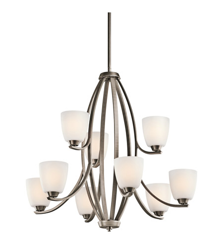Kichler Lighting Granby 9 Light Chandelier in Brushed Pewter 42559BPT