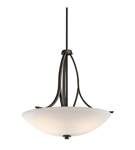 Kichler 42561OZ Granby 3 Light 25 inch Olde Bronze Inverted Pendant Ceiling Light in Standard photo