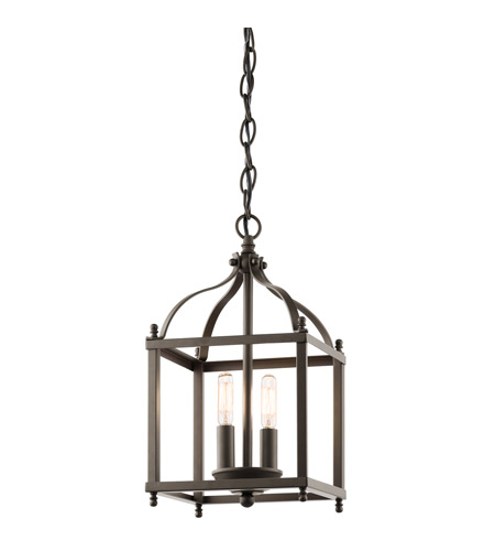 Kichler 42565OZ Larkin 2 Light 8 inch Olde Bronze Foyer Pendant Ceiling Light photo