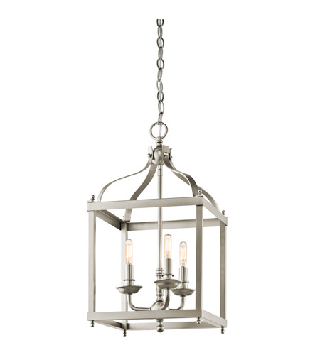 Kichler 42566NI Larkin 3 Light 12 inch Brushed Nickel Foyer Pendant Ceiling Light photo