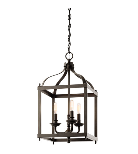 Kichler 42566OZ Larkin 3 Light 12 inch Olde Bronze Foyer Pendant Ceiling Light photo