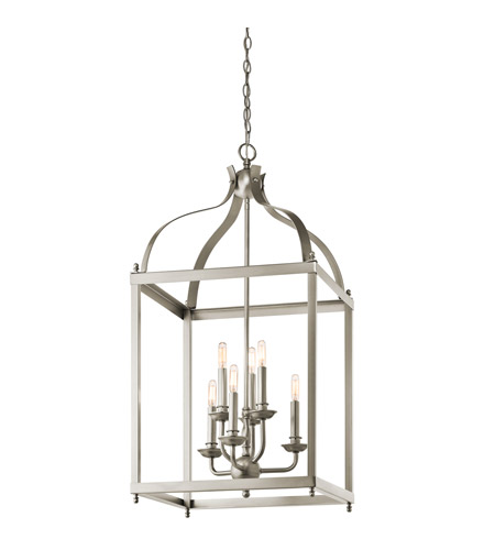 Kichler 42568NI Larkin 6 Light 18 inch Brushed Nickel Foyer Pendant Ceiling Light photo