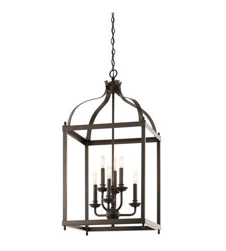Kichler Lighting Larkin 6 Light Foyer Pendant in Olde Bronze 42568OZ photo