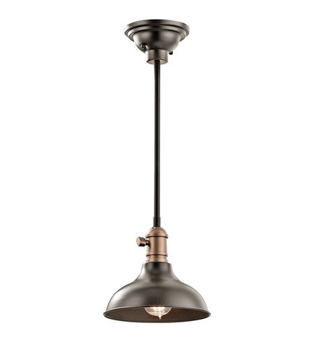 Kichler 42579OZ Cobson 1 Light 8 inch Olde Bronze Mini Pendant Ceiling Light, Convertible to Wall Sconce photo