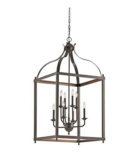 Kichler 42591OZ Larkin 8 Light 24 inch Olde Bronze Chandelier Ceiling Light photo