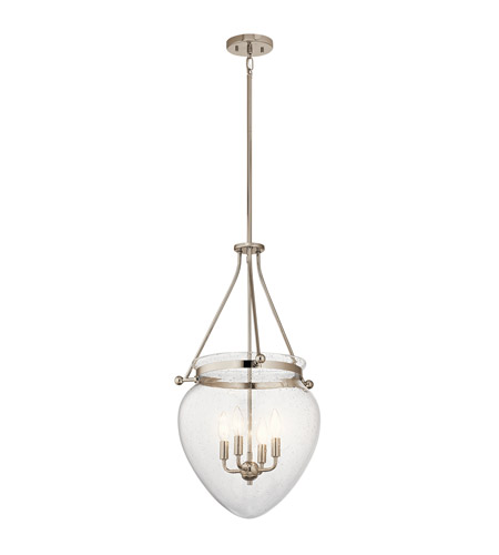 Kichler 42594PN Belle 4 Light 17 inch Polished Nickel Foyer Pendant Ceiling Light photo