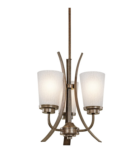 Kichler Lighting Coburn 3 Light Mini Chandelier in Old Iron 42600OI photo