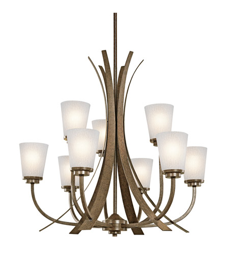 Kichler Lighting Coburn 9 Light Chandelier in Old Iron 42604OI photo