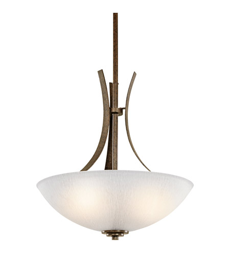 Kichler Lighting Coburn 3 Light Inverted Pendant in Old Iron 42607OI photo