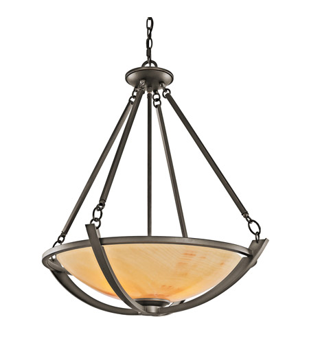 Kichler Lighting Carthage 3 Light Inverted Pendant in Olde Bronze 42615OZ photo