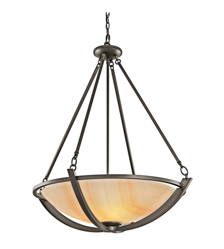 Kichler Lighting Carthage 3 Light Inverted Pendant in Olde Bronze 42616OZ photo