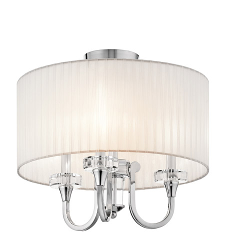 Kichler 42630CH Parker Point 3 Light 17 inch Chrome Semi-Flush Ceiling Light photo