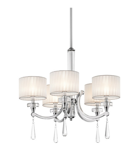 Kichler 42631CH Parker Point 5 Light 26 inch Chrome Chandelier Ceiling Light photo