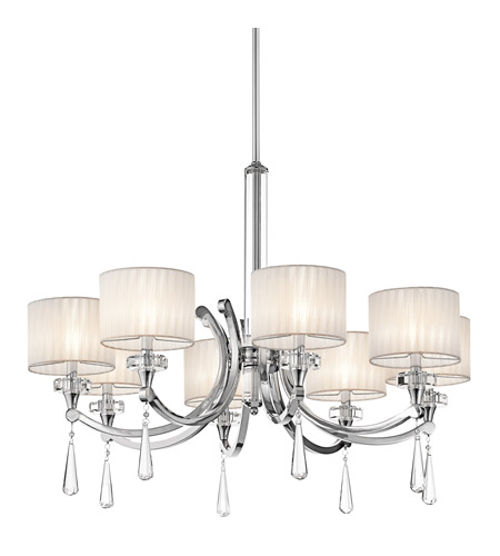 Kichler 42632CH Parker Point 8 Light 36 inch Chrome Chandelier Ceiling Light photo