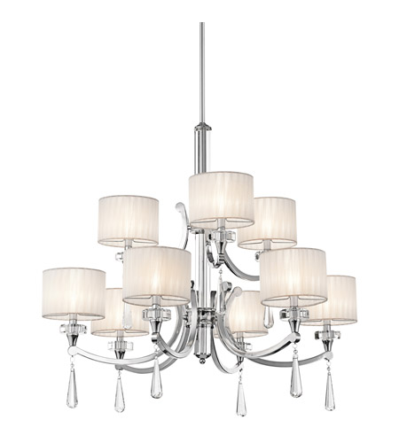 Kichler Lighting Parker Point 9 Light Chandelier in Chrome 42633CH