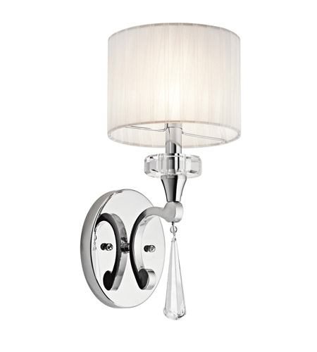 Kichler Lighting Parker Point 1 Light Wall Sconce in Chrome 42634CH