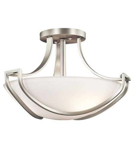 Kichler Lighting Owego 3 Light Semi-Flush in Brushed Nickel 42651NI photo