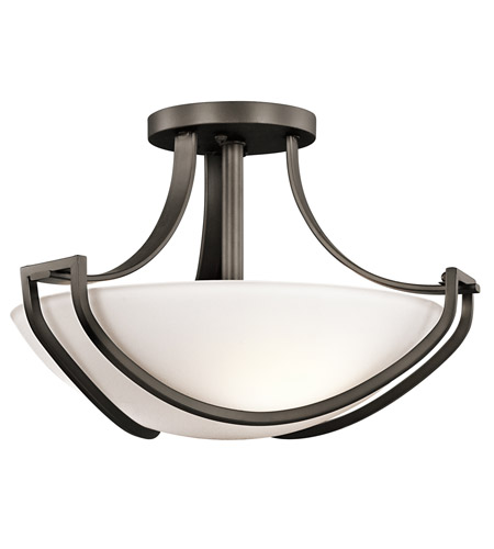 Kichler Lighting Owego 3 Light Semi-Flush in Olde Bronze 42651OZ photo