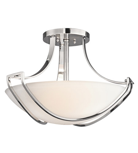 Kichler Lighting Owego 3 Light Semi-Flush in Chrome 42652CH photo