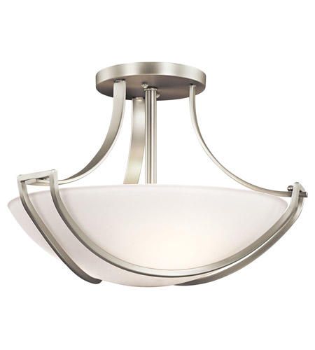 Kichler Lighting Owego 3 Light Semi-Flush in Brushed Nickel 42652NI photo