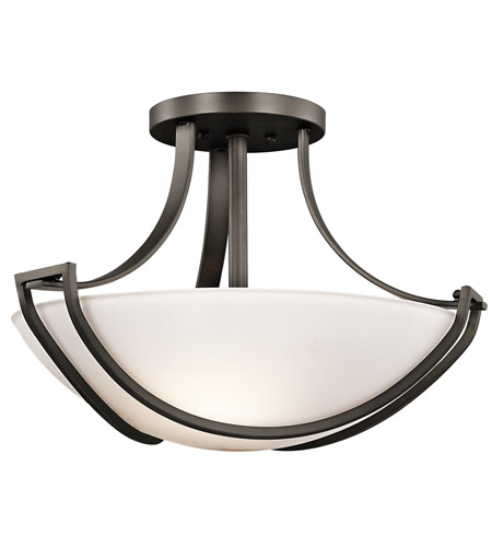 Kichler Lighting Owego 3 Light Semi-Flush in Olde Bronze 42652OZ photo