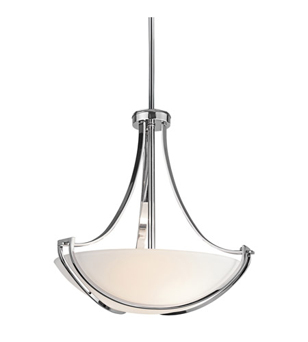 Kichler Lighting Owego 3 Light Inverted Pendant in Chrome 42653CH photo
