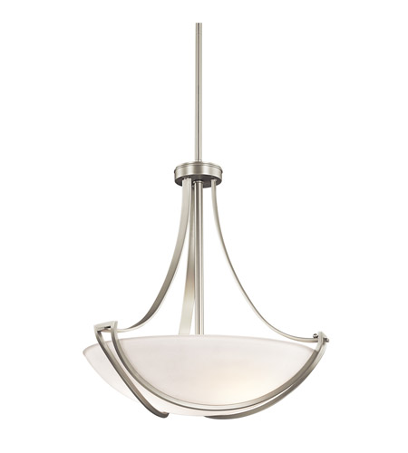 Kichler Lighting Owego 3 Light Pendant in Brushed Nickel 42653NI photo