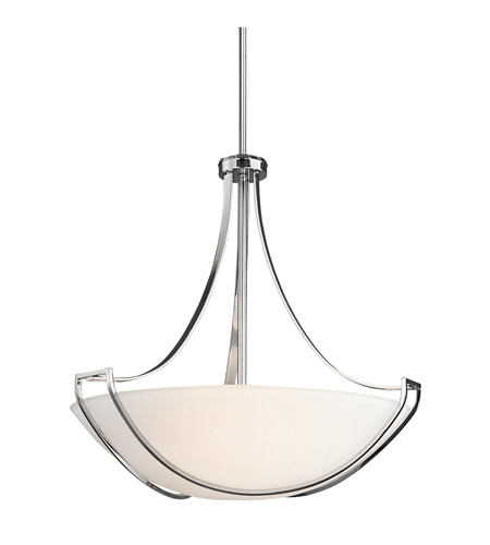 Kichler Lighting Owego 4 Light Inverted Pendant in Chrome 42654CH