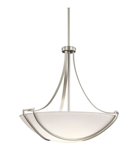 Kichler Lighting Owego 4 Light Inverted Pendant in Brushed Nickel 42654NI