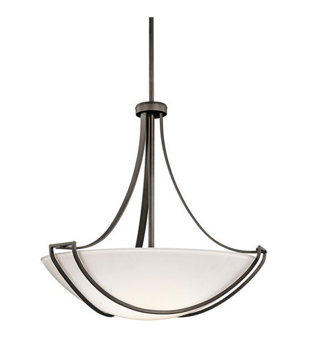 Kichler Lighting Owego 4 Light Inverted Pendant in Olde Bronze 42654OZ photo