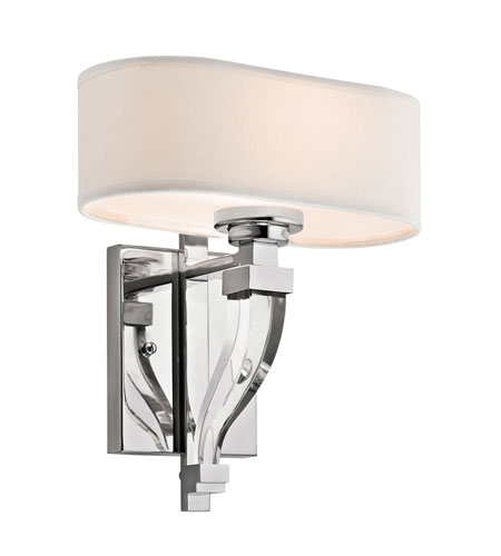 Kichler Lighting Point Claire 1 Light Wall Sconce in Chrome 42655CH