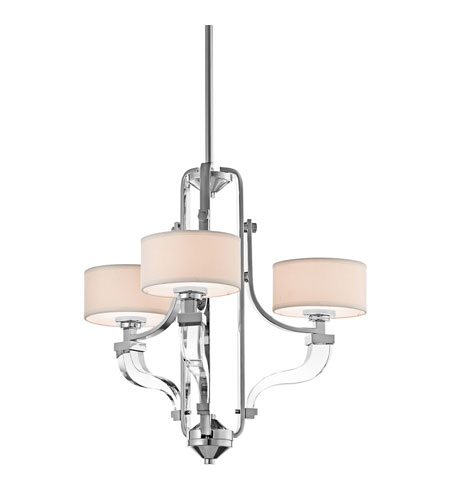 Kichler Lighting Point Claire 3 Light Chandelier in Chrome 42658CH