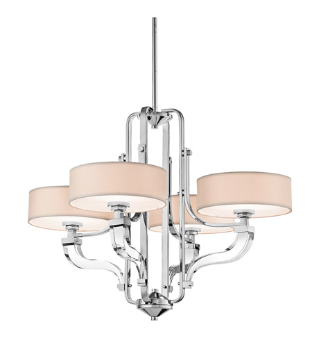 Kichler Lighting Point Claire 4 Light Chandelier in Chrome 42659CH photo