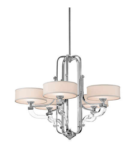 Kichler Lighting Point Claire 5 Light Chandelier in Chrome 42660CH photo