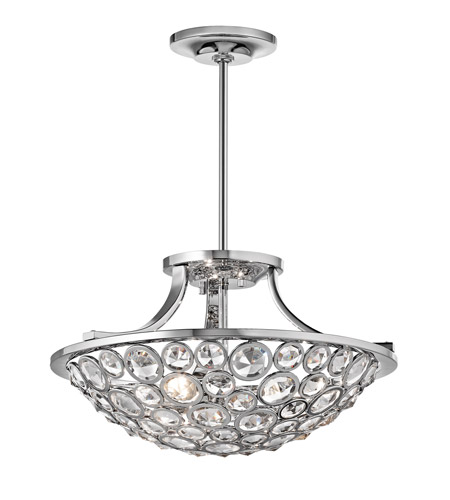 Kichler Lighting Liscomb 3 Light Semi-Flush in Chrome 42669CH