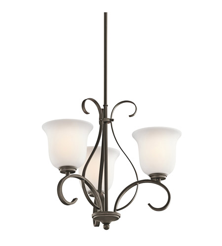 Kichler Lighting Sherbrooke 3 Light Chandelier in Olde Bronze 42673OZ photo