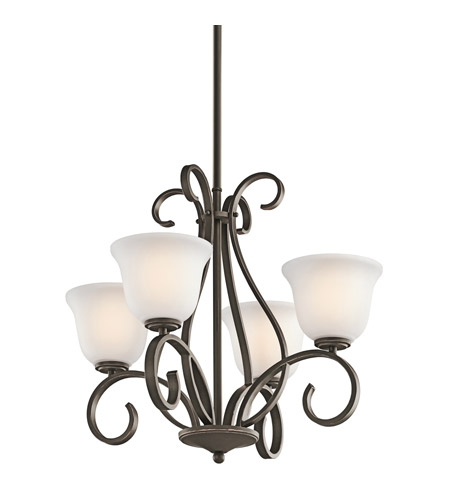 Kichler Lighting Sherbrooke 4 Light Chandelier in Olde Bronze 42674OZ photo