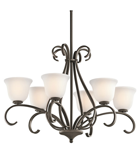 Kichler Lighting Sherbrooke 6 Light Chandelier in Olde Bronze 42675OZ photo