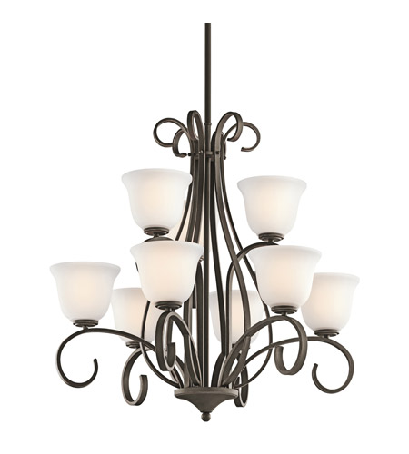 Kichler Lighting Sherbrooke 9 Light Chandelier in Olde Bronze 42676OZ
